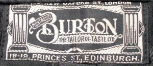 The Classic Montague Burton logo!