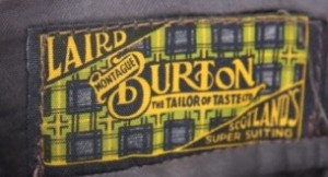 Variation of the classic logo for Burton's 'Laird' range of Scottish tweeds