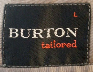 1950s Burton Tailored logo - more elegant version