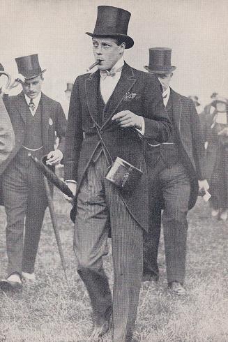 Edward VIII in edged morning coat and waistcoat