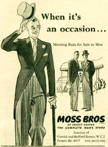 Moss Bros. Advert