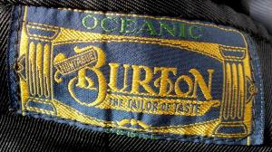 Burton Oceanic Serge logo from the late 1930s