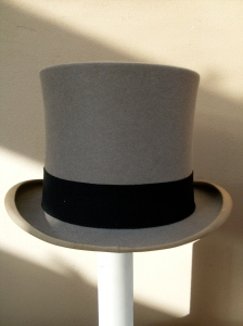 Lincoln Bennett grey felt top hat 1930s