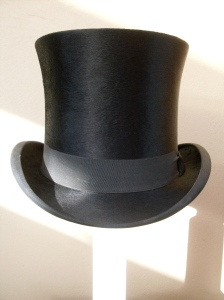 Christys' black silk top hat early 20th