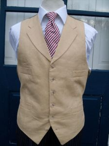 Single breasted notched lapel waistcoat