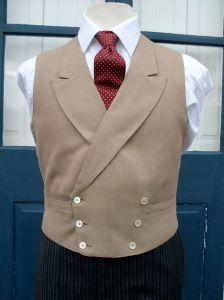 Double Breasted Buff Waistcoat