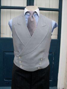 Double Breasted Grey Waistcoat