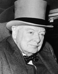 Churchill in a bow tie