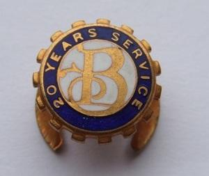 Burton 20 Years Service Badge