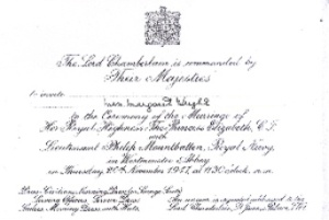 Elizabeth wedding invitation