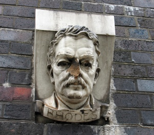 An inspirational bust of then national hero Cecil Rhodes