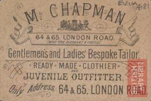 JM Chapman Business Card