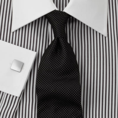 Shirt andrews pygott the morning dress guide for Striped shirt with tie