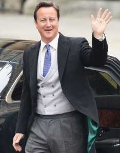 David Cameron in morning dress